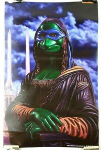 SDCC Teenage Mutant Ninja Turtles FLUD Leonardo Mona Lisa Poster Ron English