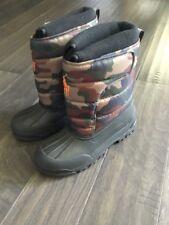 Polo Ralph Lauren Youth Boys Kids Boots Camo Hamilton EZ New Size 6 Winter Snow