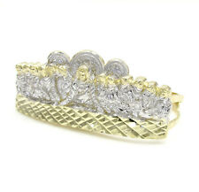 9.60 Grams 10k Yellow Real Gold Mens Last Supper Two Finger Hip Hop Ring