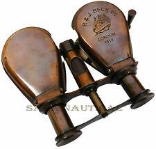 Antique Brass Binocular Telescope Vintage Nautical Spyglass Scope Telescope Gift