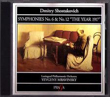 Evgeny MRAVINSKY SHOSTAKOVICH Symphony No.6 12 PRAGA CD Schostakowitsch Sinfonie