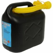 PLASTIC 5 Ltr CAR FUEL PETROL DIESEL WATER JERRY CAN CONTAINER WITH SPOUT