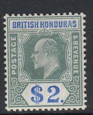 SG 92 British Honduras 1904-07. $2 grey green & blue - mounted mint