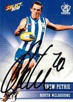 ✺Signed✺ 2012 NORTH MELBOURNE KANGAROOS AFL Card DREW PETRIE