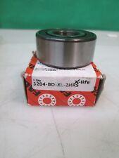 FAG 3204-BD-XL-2HRS-TVH Double Row Angular Contact Ball Bearing 47x20x20.6mm W