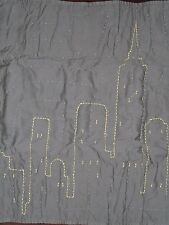 NEW POTTERY BARN BATMAN GRAY YELLOW  QUILTED  EURO PILLOW SHAM