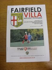 28/08/2017 Fairfield Villa v Droitwich Spa  . Thank you for viewing this item av