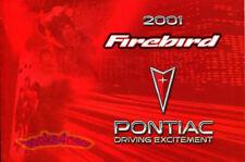 2001 PONTIAC FIREBIRD OWNERS MANUAL TRANS AM HANDBOOK GUIDE 01 TRANSAM 2001 T/A