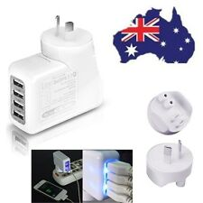 4 Ports USB Port AU Plug 2a AC Power Travel Home Wall Charger Charging Adapter
