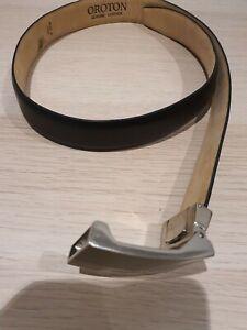 As New OROTON Women Genuine Leather Belt Black Size M ,Worn twice