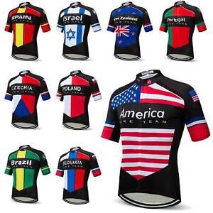 2021 Countries Team Cycling Jersey Reflective Men's Bike Cycle Shirt Top S-5XL