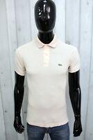 LACOSTE Uomo Taglia 3 / S Polo T-shirt Maglia Maglietta Manica Corta Man Francia