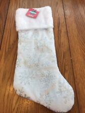 Christmas White stocking Snow flake Ships N 24h