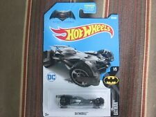 HOT WHEELS BATMOBILE FROM BATMAN VERSUS SUPERMAN WITH DC LOGO ON CARD