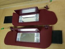 1993 Cadillac Sedan Deville Sun Visors burgandy cloth lighted mirrors