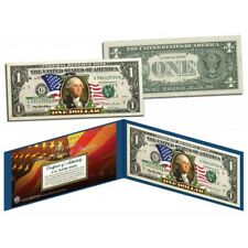 United States of America Legal Tender $1 Bill Colorized Currency - FLOWING FLAG