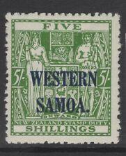 SAMOA SG208 1945 5/= GREEN MNH