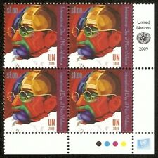 United Nations 2009 MNH Rt Lo Corner BLK, Gandhi, Non-Violence, Painting