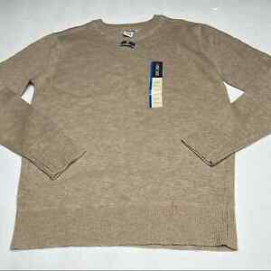 Cherokee Knit V Neck Pullover Sweater Boys Large 12-14 Tan
