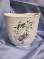 Porzellan Vase Rosenthal Kunstabteilung BELE BACHEM Mädchen Früchte 50er Jahre