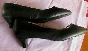 """Women's """"Pleasers"""" """" 2"""" Faux Leather Heels, Size:16, Black"""