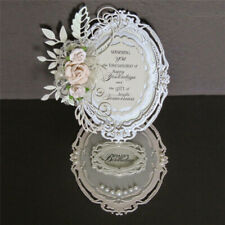 Oval Pattern Photo Frame Metal Cutting Dies Scrapbooking Card Making Embossing