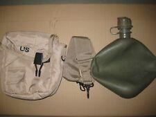 Us Army 2Qt Canteen Botella de Campo con Funda Correas y Alice Clips Bronceado