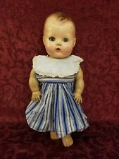 Vintage American Character Tiny Tears Baby Doll Sleep Eyes Molded Hair 13 inches