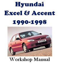HYUNDAI EXCEL & ACCENT 1990 - 1998 WORKSHOP MANUAL ON CD - THE BEST !!