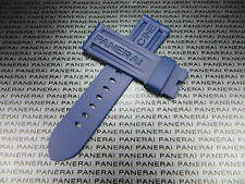 24mm Authentic PANERAI Genuine Rubber Strap Blue Diver Watch Band Tang Buckle x1