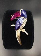 Hattie Carnegie Toucan Designer Brooch Attributed Carnegie Colorful Lucite Beak