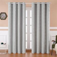 Luxury Blackout Curtains Geometric Grommets Livingroom Bedroom Window Drapes