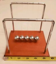Newtons Cradle Steel Desk Toy Kinetic Educational Gravity Balance Balls US
