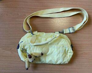Kipling Yellow Over the shoulder bag with Frida Keyring