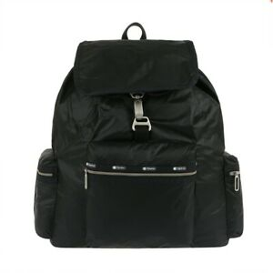 LeSportsac Essential Collection 3 Zip Voyager Backpack In True Black C NWT