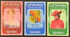 Kiribati. Dianas 21st Birthday Stamp Set. SG183/85. 1982. MNH. (N34)