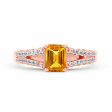 Gioielli di lusso citrino riscaldamento diamante