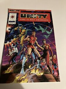 "Unity #0 Red Logo Variant 1992 ""UNITY TIME IS NOT ABSOLUTE"""