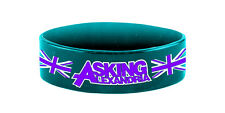 Asking Alexandria Blokes Blue Rubber Wristband