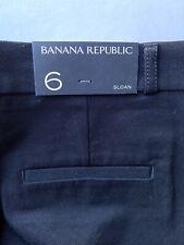 NWT Banana Republic Sloan Skinny Fit Pant Womens Size 6 Black Ankle