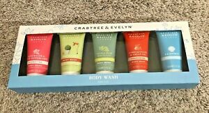 Crabtree & Evelyn London Body Wash Set 5 Piece, Rosewater Pear Pomegranate NEW!