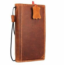 Plain Leather Mobile Phone Wallet Cases with Strap