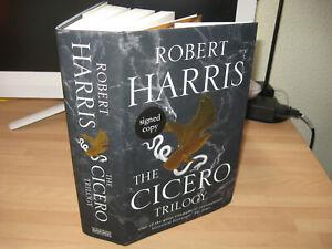 Robert Harris The Cicero Trilogy Signed 1st Imperium Lustrum Dictator omnibus HB
