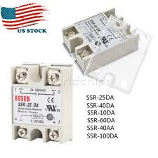 25A/40A/60A SSR-25DA 10DA 40DA 60DA Solid State Relay Module Alloy Heat Sink