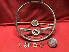 65 66 Impala Steering Wheel Complete Horn Ring Button And Hardware Super Sport