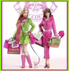 Barbie JUICY COUTURE GOLD LABEL 2004 DOLL SET #1 *RARE* NRFB
