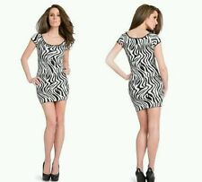 New Guess by Marciano Women's Zebra Jacquard Sweater Dress size L