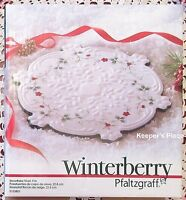 Pfaltzgraff Winterberry Snowflake Trivet White Red Berry Berries New In Box