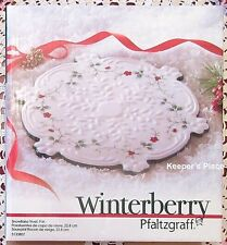 Pfaltzgraff Winterberry Snowflake Trivet White Red Berry Berries New In Box