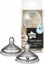 Tommee Tippee Closer to Nature Medium Flow Teats 2 Teats. 3m